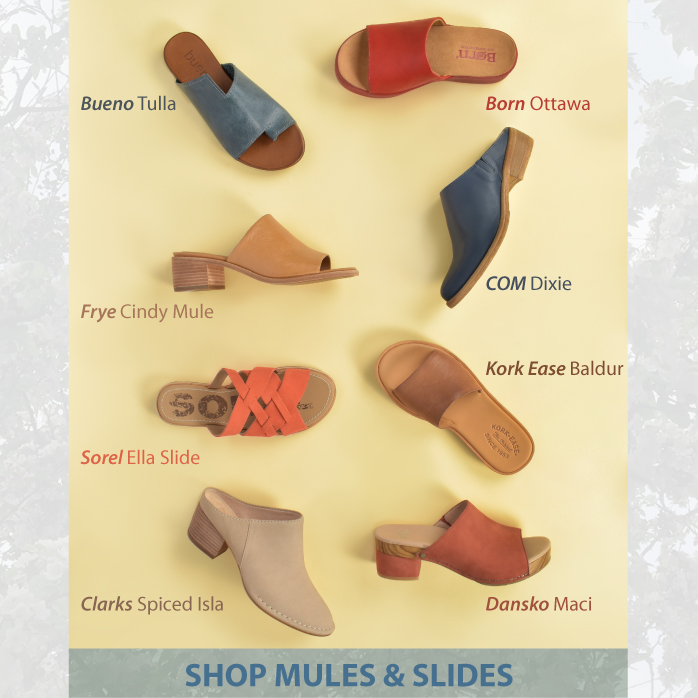 Shop Slides and Mules